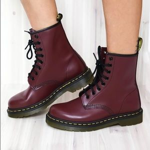 Cherry Red Smooth Dr. Martens LIKE NEW